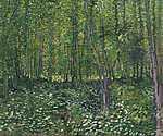 Claude Monet: Fák és aljnövényzet (id: 12183) többrészes vászonkép