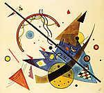 Vaszilij Kandinszkij: Arch and Point , 1923. (id: 14283) többrészes vászonkép