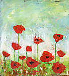 Poppies Field - Acrylic painting of an abstract poppies field.  (id: 15483) poszter