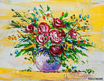 Oil painting flowers (id: 16083) poszter