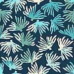 Korall motívumok / kék-zöld (id: 18183) poszter