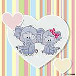 Two Elephants (id: 19083) falikép keretezve