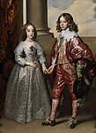 Anthony van Dyck : II. Vilmos orániai herceg és jegyese Stuart Mária (id: 19383) vászonkép