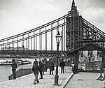Az épülő Erzsébet híd pesti hídfője (1903) (id: 20183) falikép keretezve