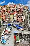 Monarolla halászfalu, Cinque Terre, Olaszország (id: 4283) tapéta