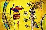 Afrikában retro vintage stílus (id: 7383) vászonkép