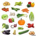 zöldséggyűjtemény fehér alapon (id: 10684)