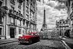 Művészi Párizs, Franciaország. Eiffel-torony látható az utcáról  (id: 12784) tapéta