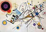 Vaszilij Kandinszkij: Composition 8 (id: 14284) vászonkép óra
