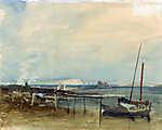 William Turner: Tengerpart, háttérben a  Fehér sziklákkal  (id: 20384) tapéta