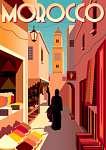 Utazás poszter - Marokkó (id: 20984) vászonkép óra
