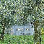 Gustav Klimt: Parasztház Buchbergben, 1911 (2.színváltozat) (id: 2784) vászonkép óra