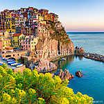 Naplemente Manarolában, Cinque Terre, Olaszország (id: 4284) vászonkép óra