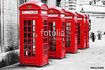 Telefonos fülkék Londonban a Color-Key módszerrel (id: 10085) vászonkép