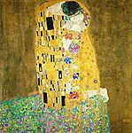 Gustav Klimt: A csók, 1908 (id: 1085) vászonkép óra