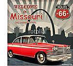 Welcome to Missouri retro poster (id: 19185)