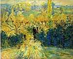 Berthe Morisot: Kilátás a verandáról, Mezy-ben (id: 1985) vászonkép óra