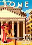 Utazás poszter - Róma (id: 20985) vászonkép óra