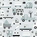 Járművek skandináv stílusban tapétaminta (id: 21885) poszter