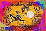 Afrika retro vintage stílusban (id: 7385) vászonkép