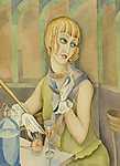 Gerda Wegener: Lili Elbe portréja (id: 11586) vászonkép óra