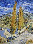Vincent Van Gogh: Két nyárfa egy dombon (1889) (id: 12186) vászonkép óra