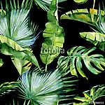 A trópusi levelek zökkenőmentes akvarellje, sűrű jungl (id: 12586)