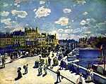 Pierre Auguste Renoir: A Pont Neuf, Párizs legöregebb hídja (id: 1386) többrészes vászonkép