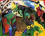 Vaszilij Kandinszkij: Murnau, kert (id: 14286)