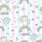 cute unicorn vector pattern (id: 19086) tapéta