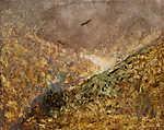 Mednyánszky László: Völgy, magasan köröző madárral (id: 20086) vászonkép óra