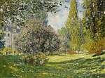 Claude Monet: A Monceau park (1876) (id: 20886) vászonkép óra