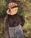 Camille Pissarro: Parasztasszony (id: 2686) tapéta