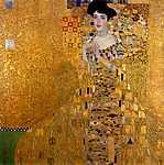 Gustav Klimt: Adele Bloch portréja - színverzió 2. (id: 2786) falikép keretezve