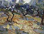 Vincent Van Gogh: Olajfák (id: 2886) vászonkép óra