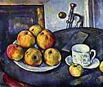 Paul Cézanne: Csendélet csészével és almákkal (id: 486)