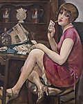Gerda Wegener: Szív királynő - Lili portéja (id: 11587) vászonkép