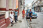 Cuba, La Habana Centro, Street Scene (id: 13287) poszter