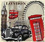 London vintage poster. (id: 19187)
