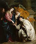 Anthony van Dyck : Szent Hermann József látomása (id: 19587) vászonkép óra