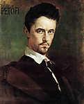 Benczúr Gyula: Petőfi (id: 20087) falikép keretezve