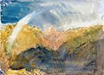 William Turner: Crichton Castle, Tájkép hegyekkel, szivárvánnyal (id: 20387) falikép keretezve