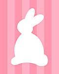 DIY - Húsvéti nyuszi, rózsaszín csíkos háttérrel (id: 4087) többrészes vászonkép