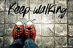 Séta, Inspiráció idézet, cipő a járdán (id: 6987)