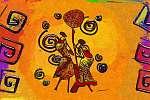 Afrika retro vintage stílus (id: 7387) poszter