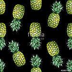 Zökkenőmentes akvarell gyümölcs illusztrációja ananász. Minta sz (id: 12588)