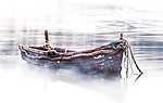 Csónak a tavon (id: 17188) többrészes vászonkép