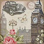 London vintage postcard. (id: 19188) tapéta