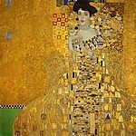 Gustav Klimt: Adele Bloch portréja - színverzió 4. (id: 19788) vászonkép óra