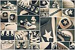 Converse tornacipők (id: 3788) falikép keretezve